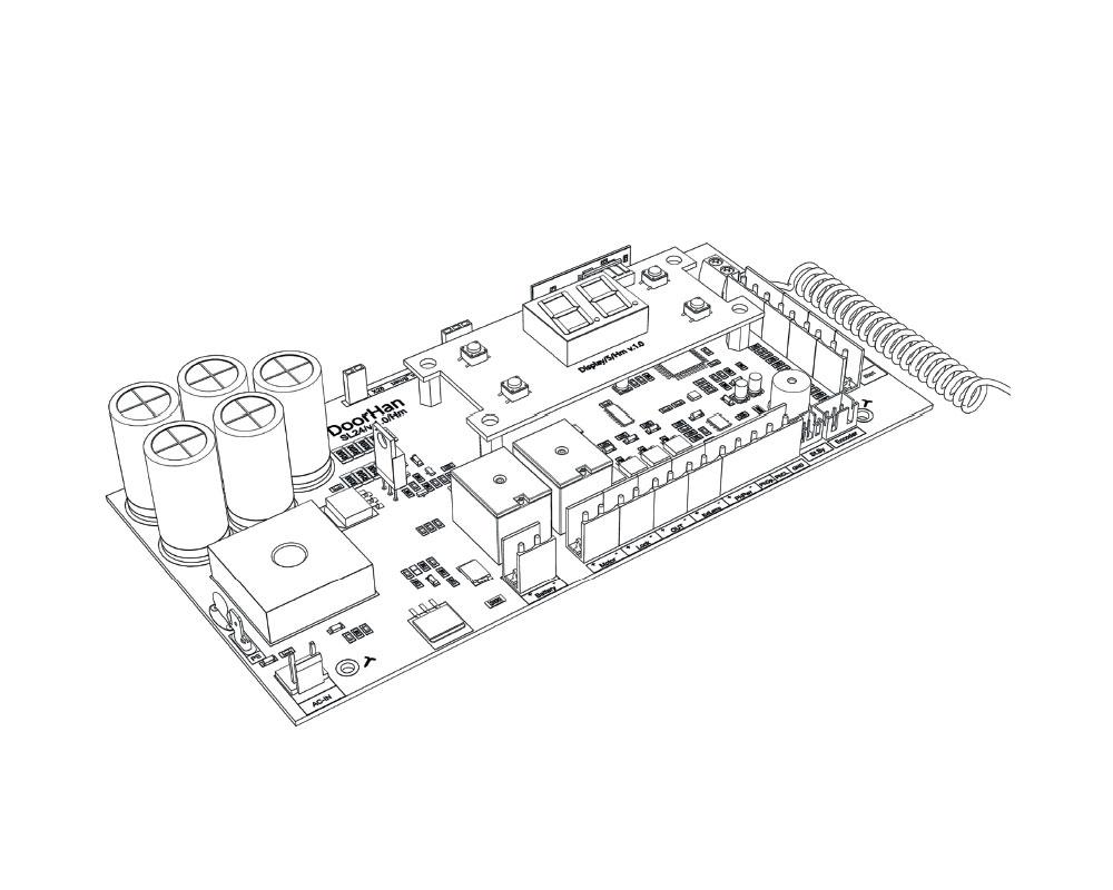 DoorHan Плата управления PCB_SL24/V.1.0 -A с дисплеем, PCB_SL24 -A — VOROTA.MOSCOW Group
